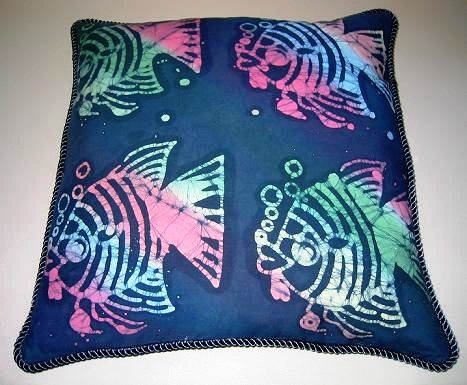 Batik fish pillow