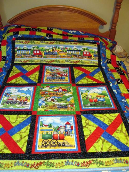 Riding Rails Chase quilt