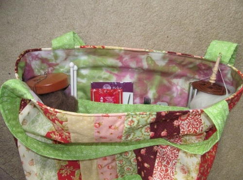 knitting tote pocket