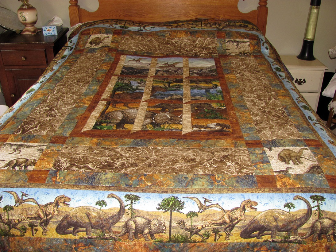 Out My Window Dinosaur Quilt Bunks Blog